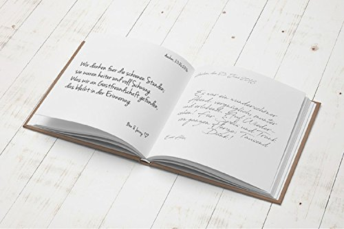 Blanko Gästebuch im Kraftpapier-Look