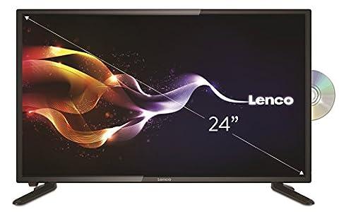 "Lenco DVL-2461 TV 24"" (61cm) HD LED TV Fernseher mit DVB-T/T2/S2/C und DVD-Spieler, MultiTV-System: PAL/NTSC/SECAM, Sleeptimer,"