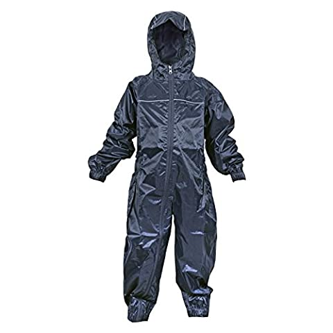Dry Kids Waterproof Rainsuit Navy 9/10yrs