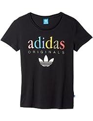 adidas T-Shirt - Camiseta para mujer, color negro, talla 38