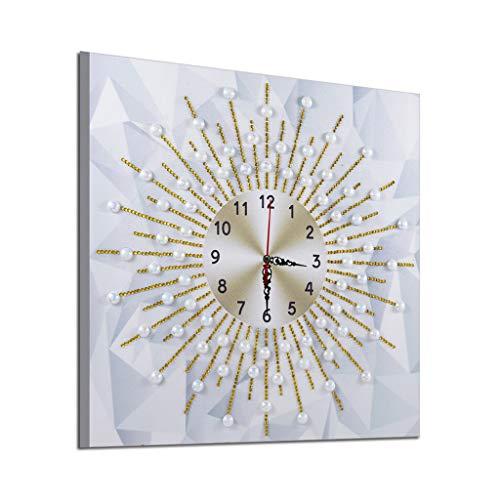IYHENZ 5D Uhr Wanduhr DIY Diamant Painting,Diamond Painting Kits Handgefertigt Strass Stickerei Arts Mosaik Gemälde Raumdekor Wand-Dekor(D,35x35cm) Wanduhr Kit