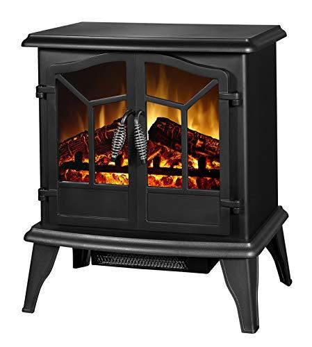 Classic Fire \'Narvik\' Elektrokamin mit Heizlüfter und Kaminfeuer Effekt - 1800W
