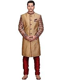 A.B.C. GarmentsGolden Sherwani For Mens