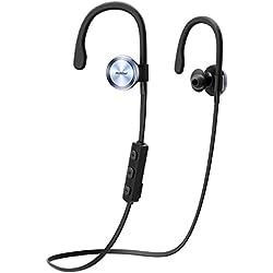 Mpow Bluetooth 4.1 - Auriculares inalámbricos deportivos para correr ejercicio, cancelación de ruido, diseñado para deporte compatible con Apple iPhone 6 6s 7 Huawei Android móvil
