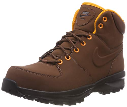 Nike Herren Manoa Leather Trekking-& Wanderstiefel,Braun (Fauna Brown/Orange Peel/Velvet Brown/Black 203), 44 EU