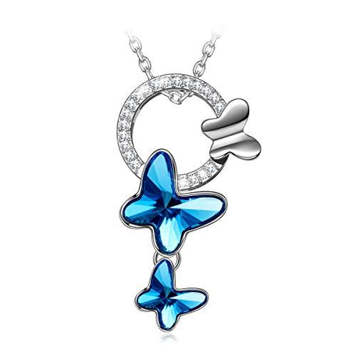 PAULINE & MORGEN Geschenk für Frauen Weihnachten Halskette Damen Frauen Kette Damen Damen Swarovski Kristall schmuck Damen Geburtstagsgeschenk für Frauen Freundin Mama mädchen Jahrestag Geschenk