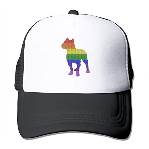 Preisvergleich Produktbild Patriotische Pitbull LGBT-Flaggen Unisex Cap Adjustabel Hat Plain Baseball Hip Top Cap