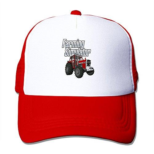 YSC-Dier Custom Adjustable Two-toned Farming Game Simulator Summer Caps Black Red