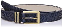 Lino Perros Womens Belt (LWBE00451BLUE_95)