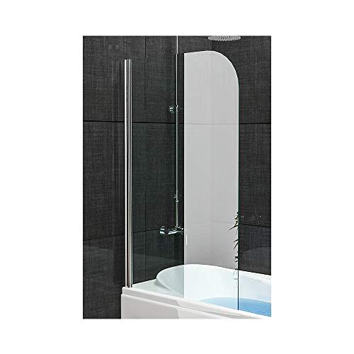 Badewannenabtrennung Echtglas/Trennwand ca. 75 x 130 cm/Badewanne/Duschabtrennung aus Sich