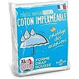 Sweethome | Protège Matelas Imperméable - 90x190cm - Bouclette 100% Coton - Anti Acariens - Souple et Silencieux - Forme Drap