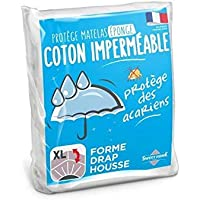 Sweethome | Protège Matelas Imperméable - 90x190/200 cm - Bouclette 100% Coton - Anti Acariens - Souple et Silencieux - Forme Drap Housse - Lavable en Machine