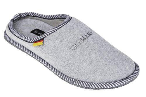 Pantoufles avec filzsohle gIBRA pour homme gris clair taille r Gris - Gris clair