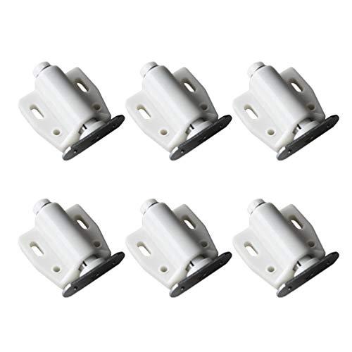 BESPORTBLE 6 Stück Magnet Touch Riegel Schrank Schublade Magnet Catch Push für Kleiderschrank Küchenschrank Schranktür (Weiß)