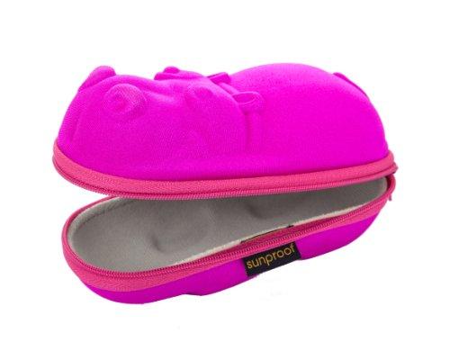 Gafas funda para niños–color rosa hipopótamo