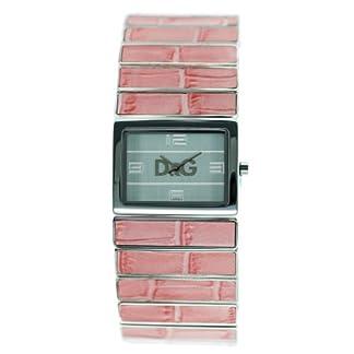 D&G Dolce&Gabbana Pasion de Ibiza/ DW0083 – Reloj analógico de mujer de cuarzo con correa de acero inoxidable rosa