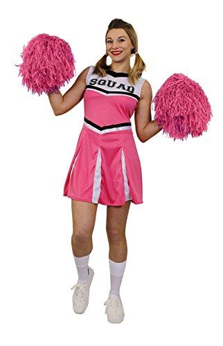 ILOVEFANCYDRESS ÜBERGRÖSSEN Karneval Fasching KOSTÜME VERKLEIDUNG FÜR Frauen MIT DER PERFEKTEN KURVIGEN Figur=ROSA Cheerleader Kleid+Pompoms=SEXY Party =XXLarge