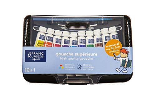 LEFRANC BOURGEOIS Collège Box de 10 tubes de gouache 10ml avec Pinceau