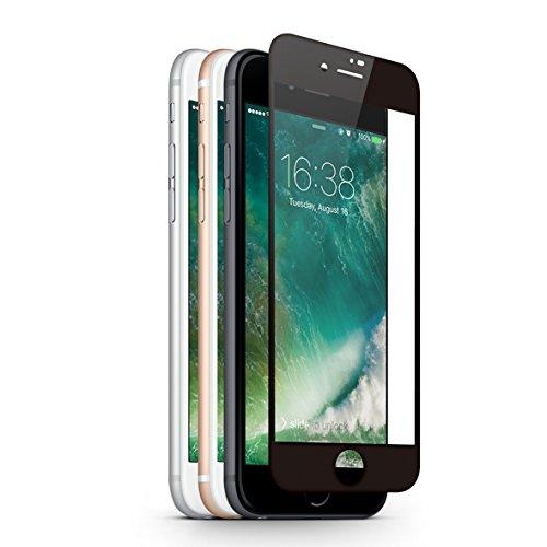 KMP Hartglas Perfunctory of enhancement Displayschutz für iPhone 8 - schwarz - Schutzglas - Screen Protection