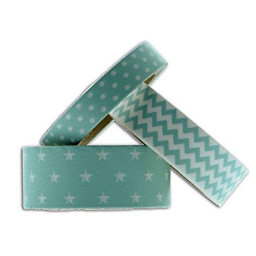 toga-mt91-3-masking-tape-etoiles-chevrons-pois-washi-tape-bleu-menthe-65-x-9-x-5-cm