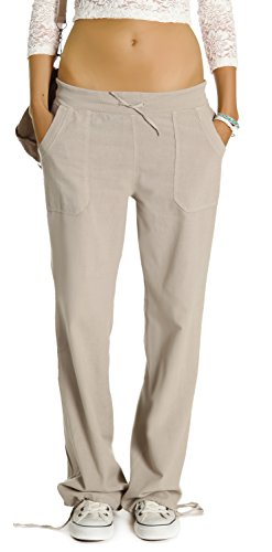 Pantaloni Bestyledberlin Donna, pantaloni da donna in pantaloni di lino