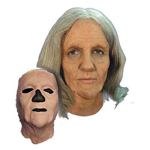 Alte Frau Maske Halloween Kostueme Maske Gesicht Maske Over-the-Head-Maske Kostuem Stuetze Scary Creepy Schreckliche Maske Latex Maske fuer Maskerade Make-up Party ()