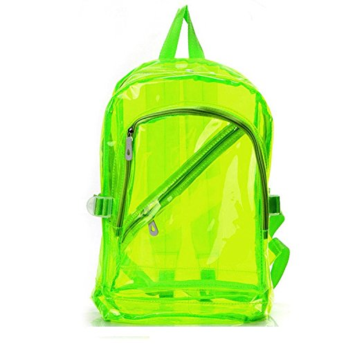 Clear backpack – Kotiger Student Girl à fermeture Éclair Mode Transparent Plastique Sac à dos Sac à dos Sac d'école