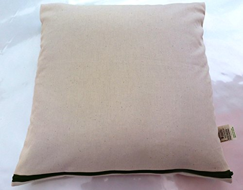 Sofa-Kuschelkissen 40x40cm,100% Bio Hirseschalen,mit abnehmbaren waschbares 100% Bio Baumwolle-Inlett