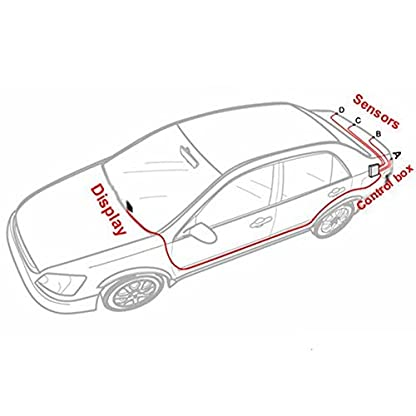 Tuqiang-New-Blau-LED-Bildschirm-Rckfahrkamera-Radar-Auto-Einparkhilfe-System-Mit-4-Sensoren-und-Reverse-Backup-Radar-Monitor-Detektor