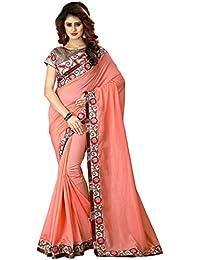 Greenvilla Designs Peach Silk Wedding Saree With Blouse