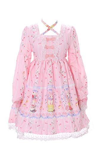 Kawaii-Story JSK-13-1 Rosa Sweet Desert Rabbit Bunny Hase Pastel Gothic Lolita Kleid Dress Cosplay (Japan Size L)