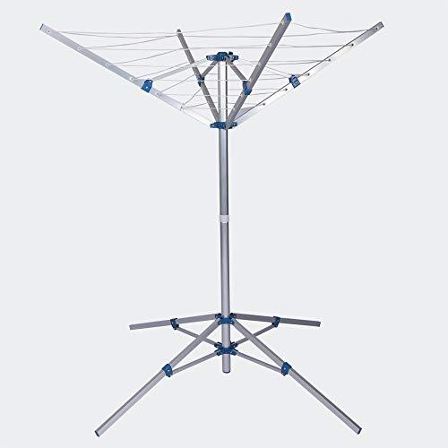 Mobiler Wäscheständer Wäschespinne Alu Wäscheleine Wäsche Standtrockner Klappbar Höhenverstellbar