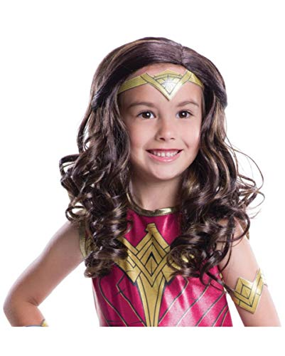 Original Kostüm Woman Wonder - Horror-Shop Original Wonder Woman Kinder-Perücke