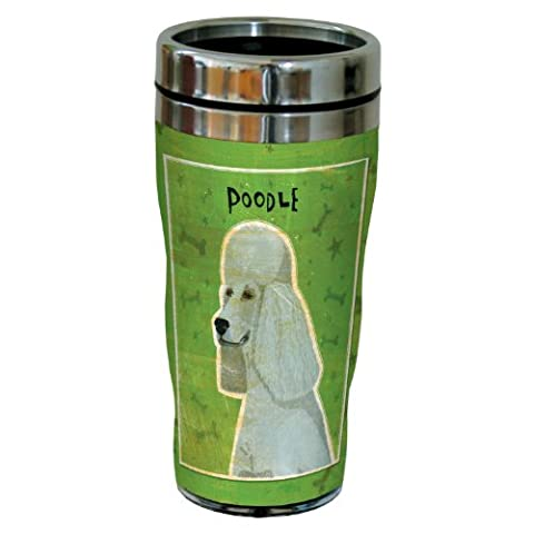 Tree-Free Greetings sg24056 Grey Poodle by John W. Golden 16-Ounce Sip 'N Go Stainless Steel Lined Travel Tumbler by Tree-Free Greetings