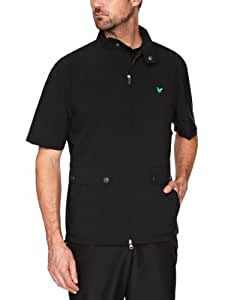 Club Green Eagle Men's Short Sleeve Zip Through Jacket Black black Size:XXXL (groß)