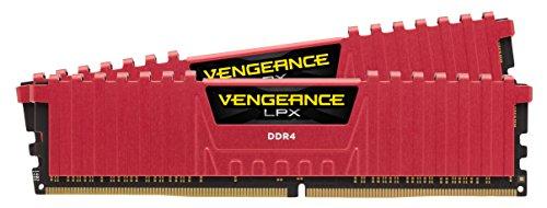 Corsair Vengeance LPX Memorie per Desktop a Elevate Prestazioni con Airflow Fan, 16 GB (2 X 8 GB), DDR4, 4000 MHz, C19 XMP 2.0, Rosso