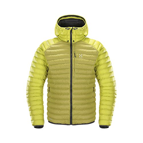 Haglofs Essens Mimic Hooded Outdoor Jacke Budgie Green Star Dust