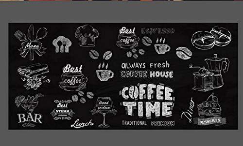 Fototapete wallpaper 3D Non-woven wallpaper Tapete Kaffee Dessert für Innendekoration Restaurant 3D Tapete tapety, 250cmx175cm -