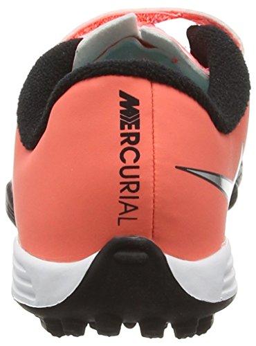 Nike - Jr Mercurial Vortex II (V) TF, Pattini Bimbo 0-24 Arancione (Bright Mango/Metallic Silver/Hyper Turquoise)