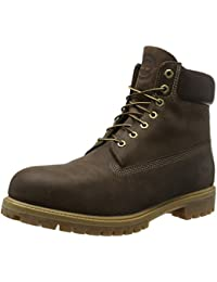 Timberland 6 In Premium Waterproof, Botas impermeables, Marrón (Brown Burnished Full Grain), 49 EU