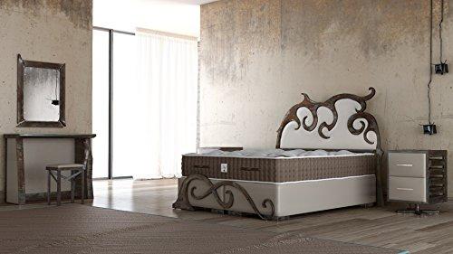 Schlichter Möbel Boxspringbett Industrial Design Set IV UNIKAT