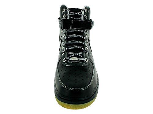 Nike Air Force 1 High 07, Scarpe sportive, Uomo black white metallic silver 028