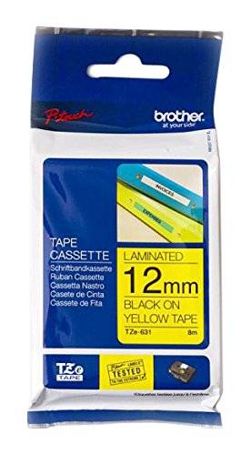 Brother Original P-touch Schriftband TZe-631 (kompatibel mit Brother P-touch PT-H100LB/R, -H105, -E100/VP, -D200/BW/VP, -D210/VP)