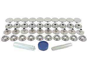 BPS 850–6R00en acier inoxydable (Grade 304) Fermeture Pression Kit de réparation pour tissu pour une application en tissu