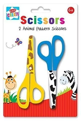 Anker Kids Create Arts and Crafts Animal Printed Scissors, Plastic,
