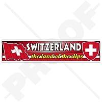 "SWITZERLAND Swiss Flag-Coat of Arms, The Land of the Alps, Schweiz Suisse Svizzera Emblem 180mm (7.1"") Vinyl Bumper Sticker, Decal"