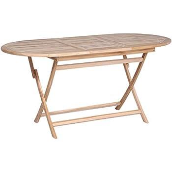 Deuba Table de Jardin Pliable Alabama en Bois d\'Acacia pré-huilé ...
