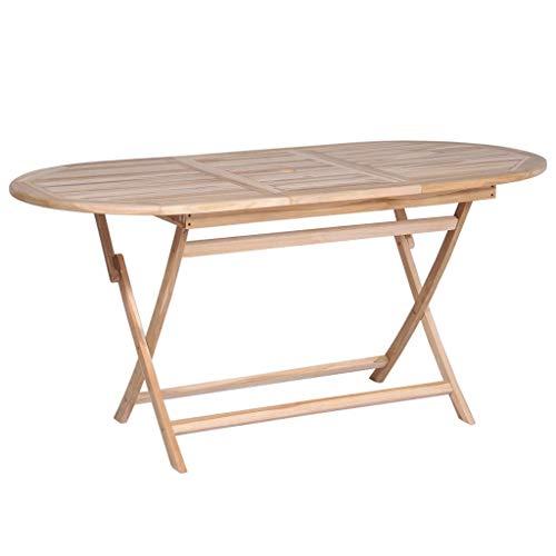 vidaXL Bois de Teck Massif Table Salle à Manger Patio Terrasse Table de Jardin