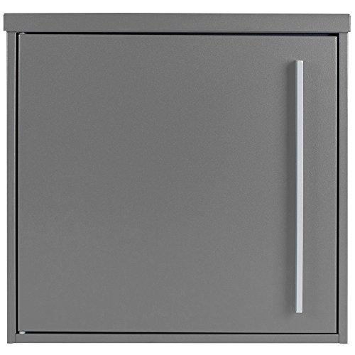Briefkasten MOCAVI Box 101 graualuminium (RAL 9007)/grau 10 Liter Wandbriefkasten