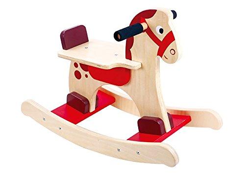 Tooky Toy - Cheval à bascule en boi